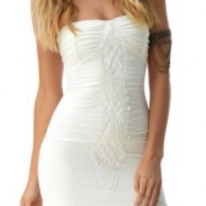Sky Bridal Stretch Ivory Lace Detail Maxi Small